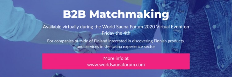 B2B Matchmaking World Forum Sauna 2020