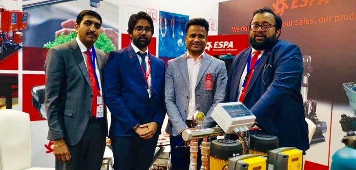 ESPA middle east team at SONEX Exhibition 2019