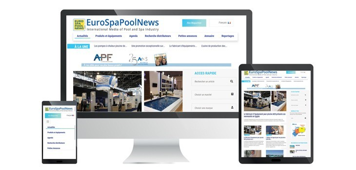 New responsive version of website EuroSpaPoolNews.com