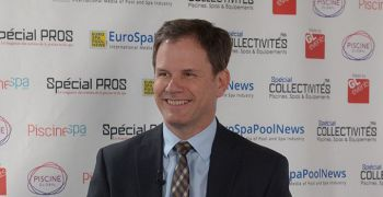 Richard Lachance, Vice-président international du groupe Hayward et l'équipe de Hayward Europe, invités du Pool Studio Eurospapoolnews 2018