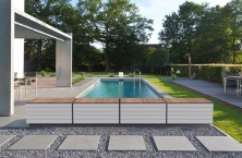 ZEN'IT, the bench-chest from ASTRALPOOL, to house the automatic pool cover