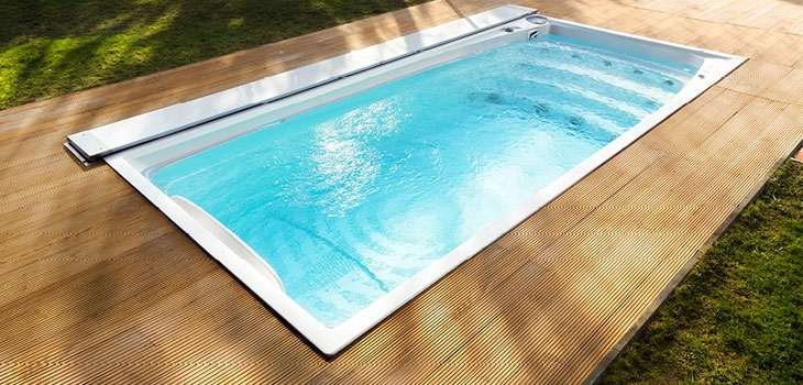 swim spa XL with ACS Automatic Cover System closed USSPA